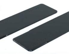 スキー状鉄板(面取り) 900型 (塩害・防雪・温泉地域向けコーティング塗布)